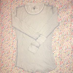 J. Crew Vintage Waffle Shirt Tee Long Sleeve Small